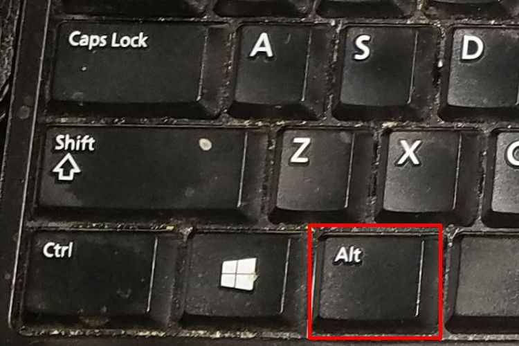 ANSI Keyboard Alt Key