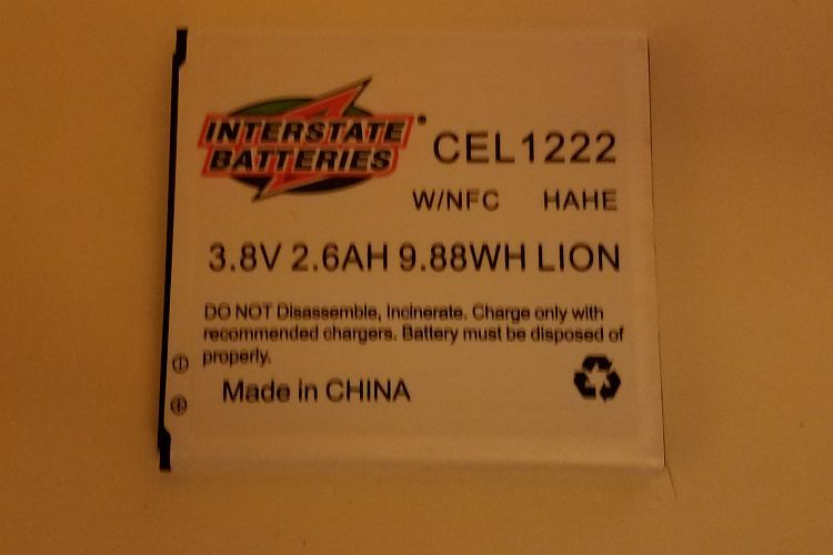 Interstate Lithium Ion Phone Battery