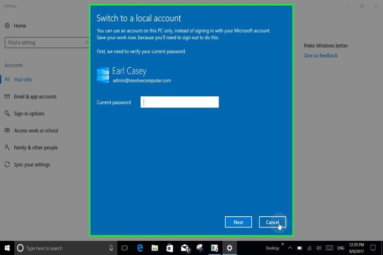 WIN 10 Offline Account4