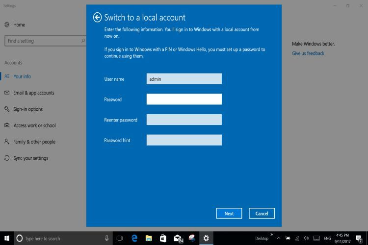 WIN 10 Offline Account5