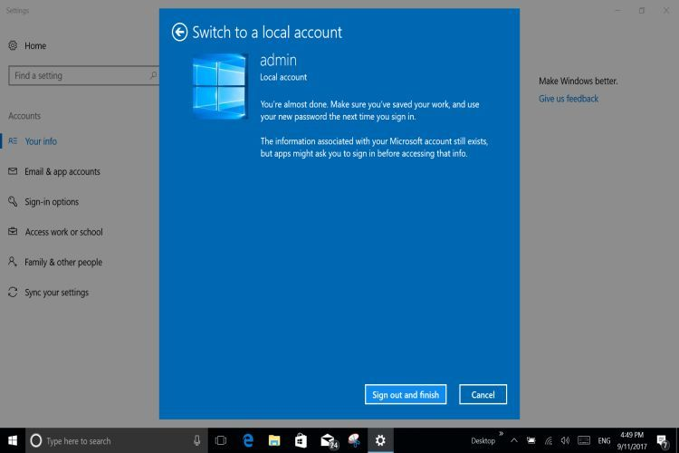 WIN 10 Offline Account6