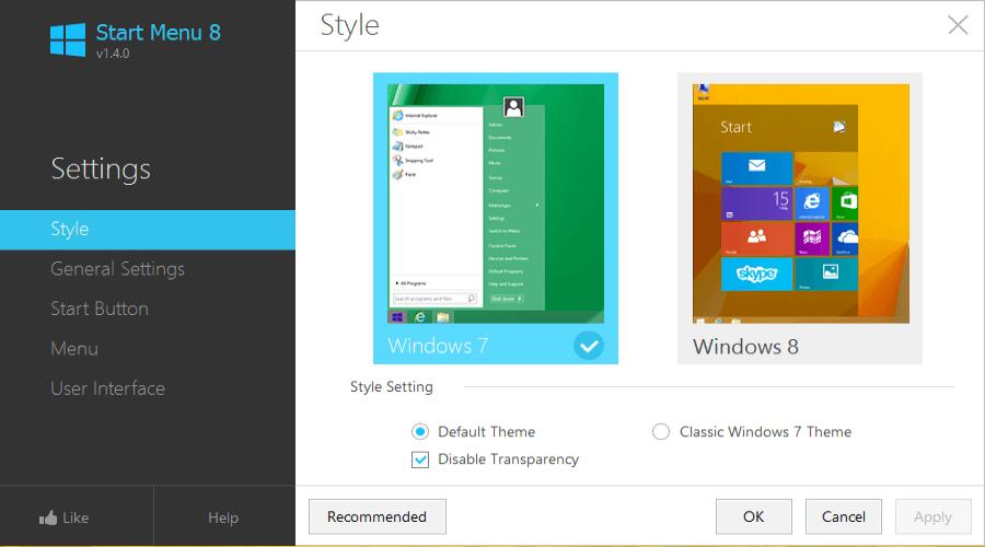 where is start button on windows 8