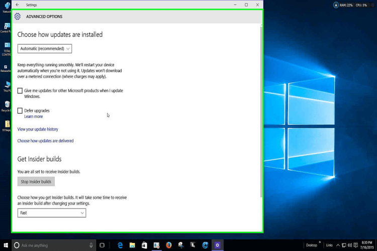 Windows 10 introduction for 10 40 window definition