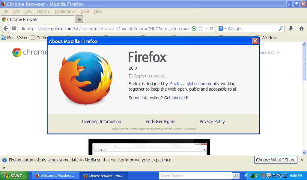how to make chrome default browser on windows xp