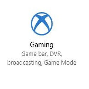 Windows 10 Gaming Settings Icon